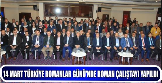 14 MART TÜRKİYE ROMANLAR GÜNÜ'NDE ROMAN ÇALIŞTAYI YAPILDI