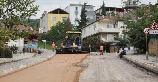 Çamlıtepe'de Asfalt  İçin Çalışma Başlatıldı