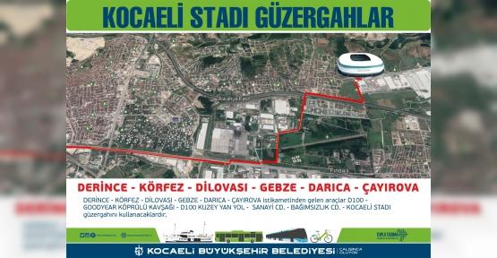 Yeni Kocaeli Stadyumu İçin Toplu Taşıma Seferber Oldu
