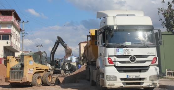 Çamlıtepe'de Altyapı İçin  Çalışmalar Yeniden Başladı