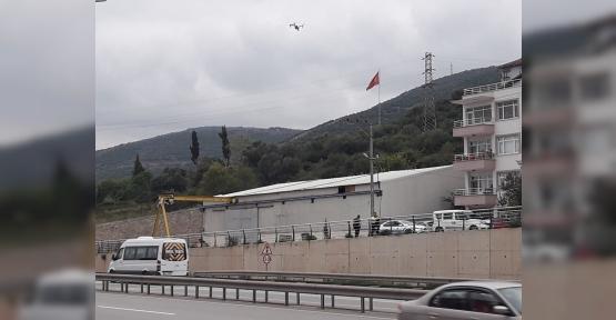KÖRFEZ'DE TRAFİK DRONLARLA TAKİBE  ALINDI