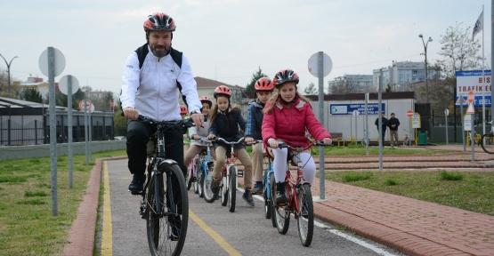 50 Bin Öğrenciye Bisiklet Eğitimi