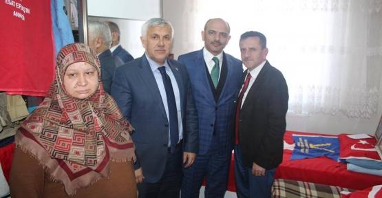 Şener Söğüt'ten Şehit Ailelerine Ziyaret