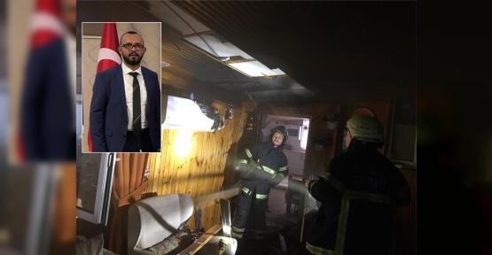 Körpaş Muhasebe Müdürü'nün  Evinde Yangın Çıktı