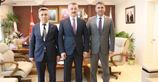 Başkan Büyükakın'dan Başkan Adnan Turan'a Hayırlı Olsun Ziyareti