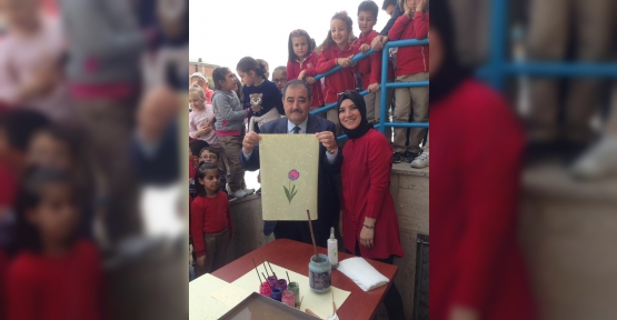KO-MEK, Minik Öğrencilere Ebru Sanatını Tanıttı
