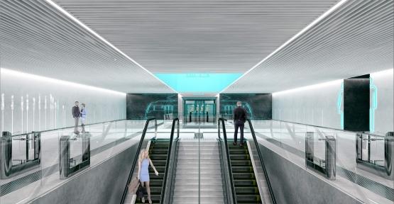 Metro Hattında İstasyon Çalışmaları Devam Ediyor