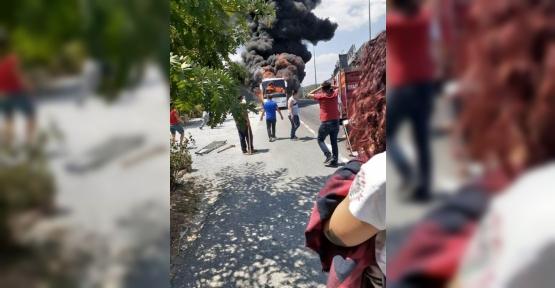 BALIKESİR'DE YOLCU OTOBÜSÜ YANDI: 2'Sİ ÇOCUK 5 KİŞİ HAYATINI KAYBETTİ..!