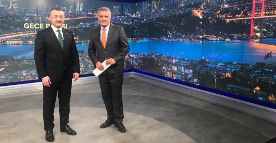 Başkan Büyükakın,  TRT Haber'e konuk oldu