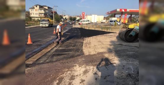 Kandıra'da Asfalt Yama Çalışmaları Devam Ediyor