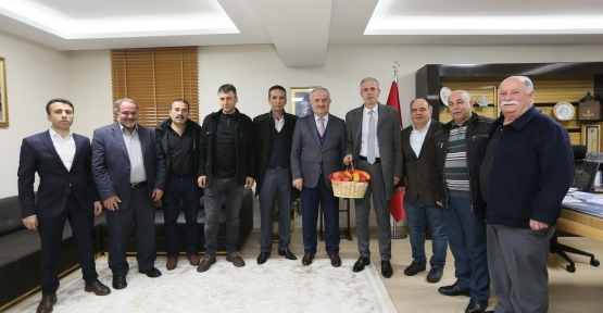 Pazarcılar'dan Başkan Aygün'e Teşekkür