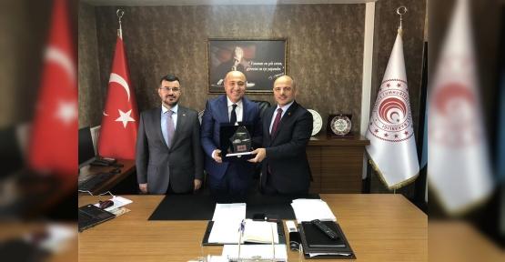 Başkan Söğüt'ten Polat ve Uzunkaya'ya Ziyaret
