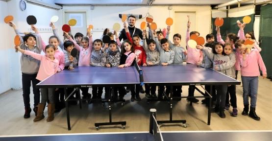 Masa Tenisi Kursuna Öğrencilerden Yoğun İlgi