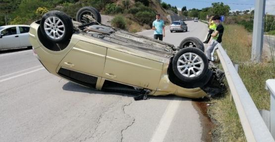 İlimtepe Yolunda Kaza: 1 Yaralı