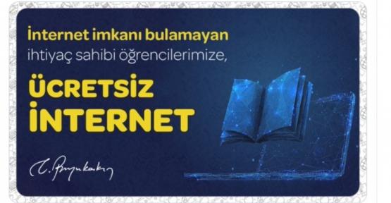 Başkan Büyükakın'dan Üniversite Öğrencilerine de Ücretsiz İnternet