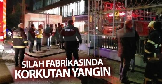 Silah Fabrikasında Korkutan Yangın