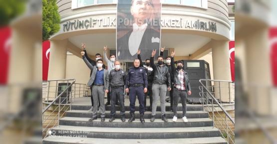 Ülkücü Gençlerden Polis Teşkilatına Ziyaret