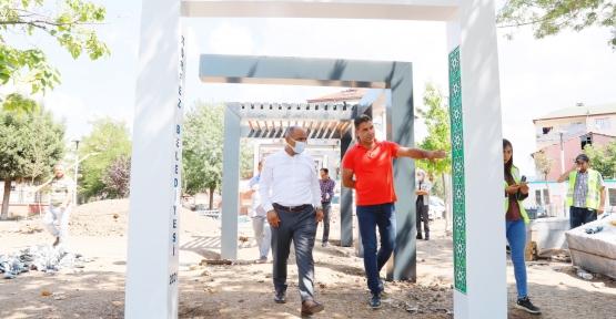 Cevher Dudayev Parkı'nda Son Dokunuşlar