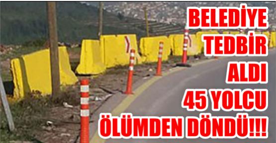 Belediye Önlem Aldı 45 Yolcu Ölümden Döndü.