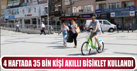 4 haftada 35 bin kişi Akıllı Bisiklet kullandı