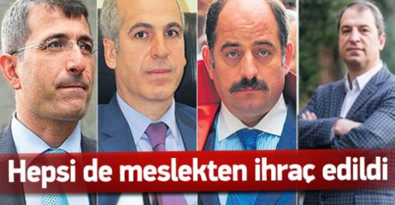 4 savcı ile 1 hakim meslekten ihraç edildi
