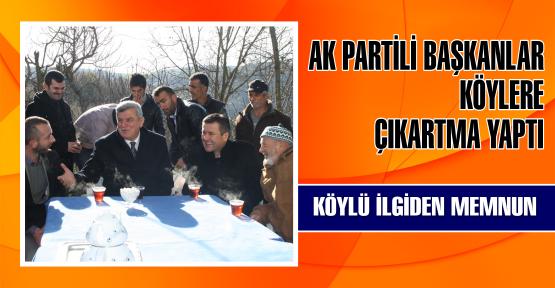 AK Başkanlar Köylere çıkarma yaptı