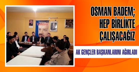 AK Gençler İlçe Başkanını Ağırladı
