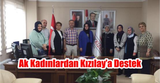 AK Kadınlardan Kızılay'a destek