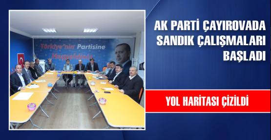 AK Parti Çayırova sandık çalışmalarına başladı