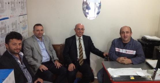 AK Parti Gölcük İlçe Başkanı Sedat Yücel Esnaf ziyaretlerine devam ediyor