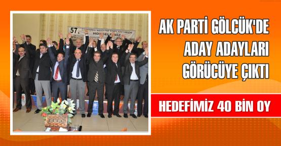 AK Parti Gölcük'te aday adayları görücüye çıktı