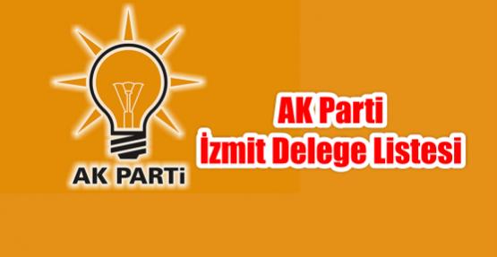 AK Parti İzmit Delege Listesi