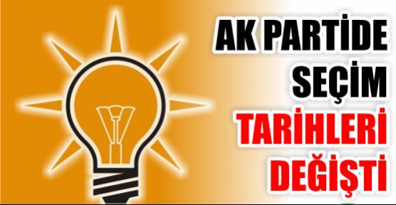 AK Parti'de seçim tarihleri değişti