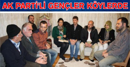 AK Partili Gençler Köy Ziyaretlerine Başladı