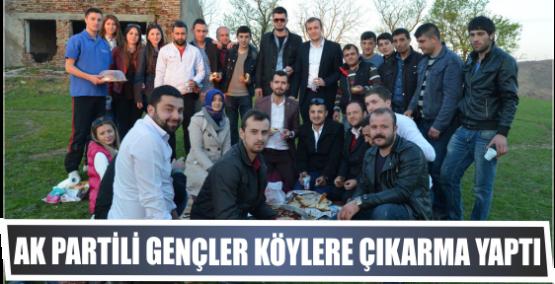 AK Partili Gençler Köylere çıkarma yaptı