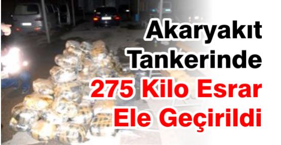 Akaryakıt Tankerinde 275 Kilo Esrar Ele Geçirildi
