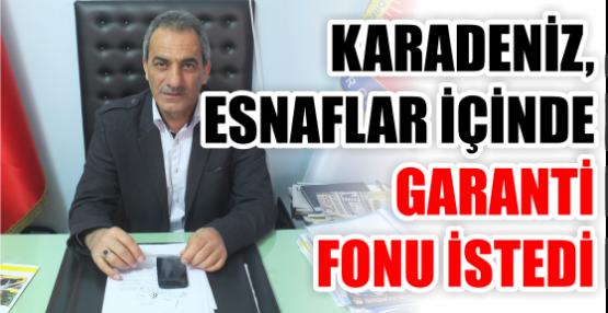 Ali Karadeniz, esnaflar için de  Garanti fonu istedi