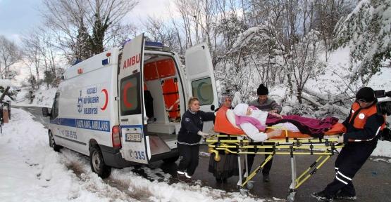 Ambulans hizmeti kara kış dinlemedi
