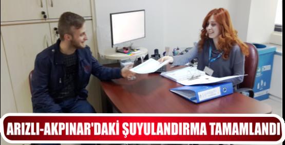 ARIZLI-AKPINAR'DAKİ ŞUYULANDIRMA TAMAMLANDI