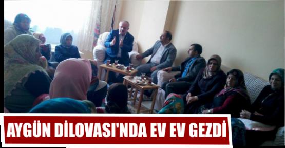 AYGÜN DİLOVASI'NDA EV EV GEZDİ