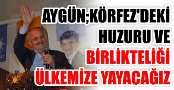 """Aygün, """"Körfez'deki Huzuru ve Birlikteliği Ülkemize Yayacağız"""""""