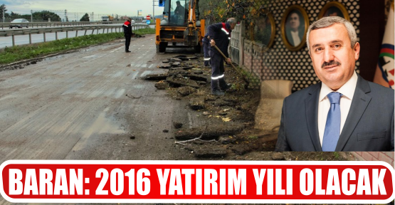 BARAN: 2016 YATIRIM YILI OLACAK