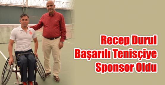 Başarılı tenisçiye sponsor oldu