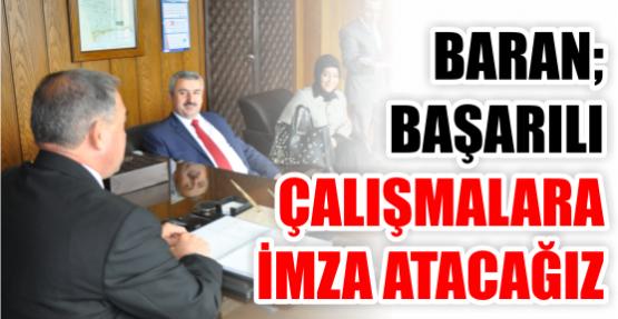 Başkan Baran, Körfezin Yeni Kaymakamı Hasan Hüseyin Can'ı Ziyaret Etti