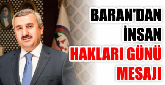 Başkan Baran'dan İnsan Hakları Günü Mesajı