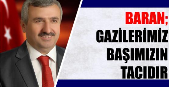 Başkan Baran'ın 19 Eylül Gaziler Günü Mesajı
