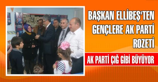 Başkan Ellibeş'ten Gençlere AK Parti Rozeti