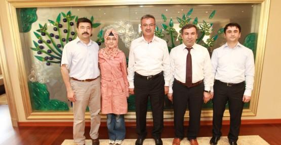 Başkan Köşker, Gebze'nin gururu Şeymanur'u kutladı