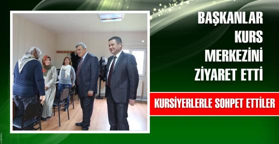 Başkanlar kurs merkezini ziyaret etti