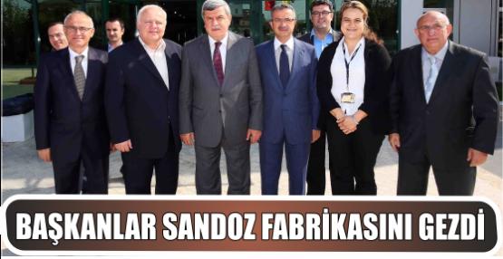 Başkanlar Sandoz fabrikasını gezdi